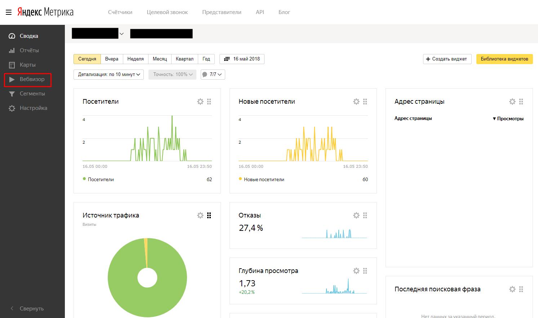 Как смотреть вебвизор в Яндекс метрике