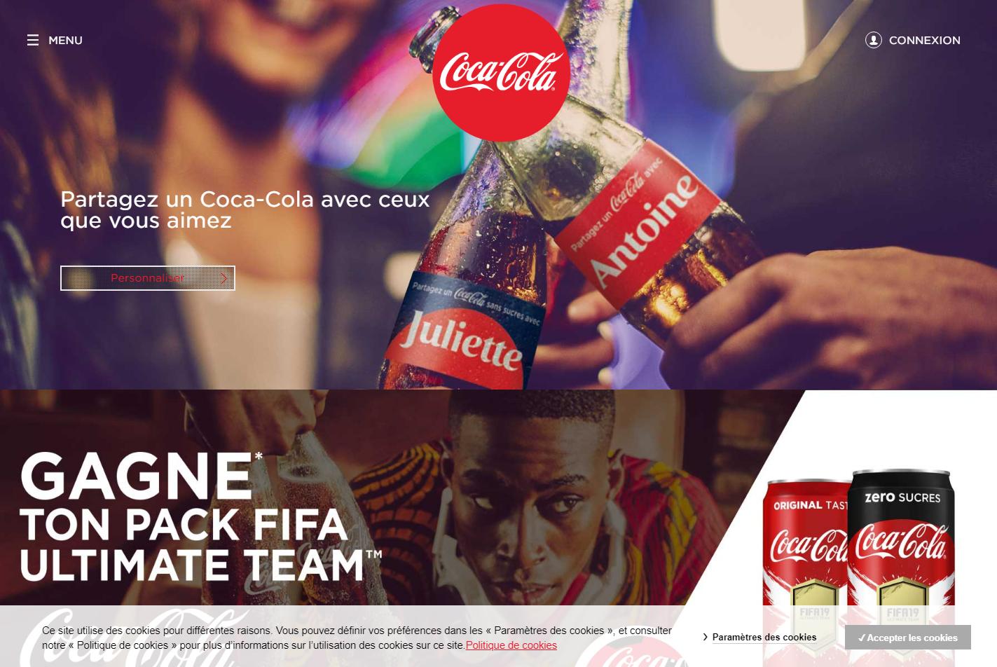 Французский сайт Кока — Колы